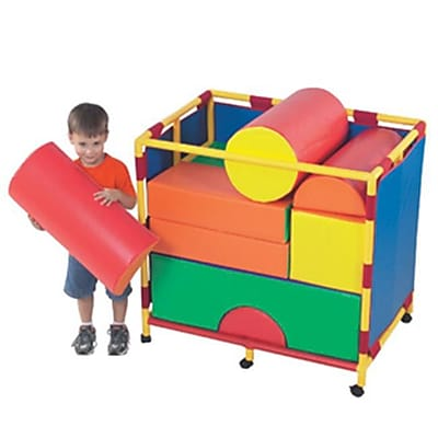 Childrens Factory Soft Big Block Trolley Set B (CHFCT097) 2486066