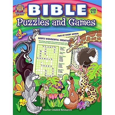 Teacher Created Resources Bible Puzzles and Games (TCCR2342)