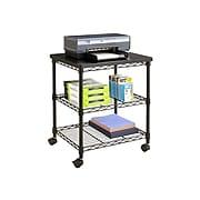 Safco Deskside 2-Shelf Mobile Printer Stand, Black (5207BL)