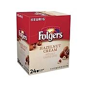 Folgers Hazelnut Cream Coffee, Keurig K-Cup Pods, Medium Roast, 24/Box (6109)