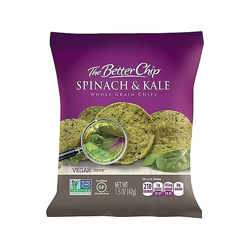 The Better Chip Chips, Spinach and Kale, 1.5 Oz., 27/Carton (56095)