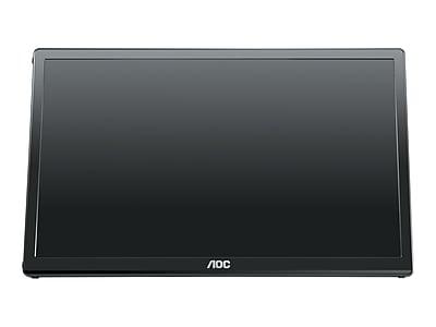 """AOC E1659FWU 15.6"""" LED Monitor, Black"""