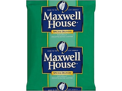 Maxwell House Special Delivery Decaf Filter Packs Coffee, Medium Roast, 42/Carton (885900)