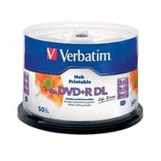 Verbatim (97693) 8x DVD+R DL, White Inkjet Printable, Hub Printable, 50/Pack