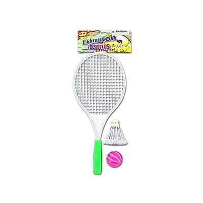 Bulk Buys Badminton Play Set with 1 Racket 1 Ball and 1 Birdie - Pack of 48 (KOLIM21055) 2491120