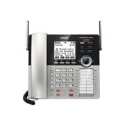 VTech Small Business System 80-0328-00 4-Line Cordless Phone, Silver/Black
