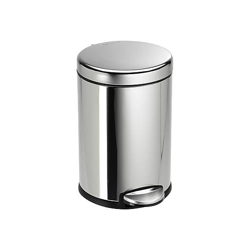 . simplehuman Indoor Step Trash Can  Polished Steel  1 2 Gal   CW1851