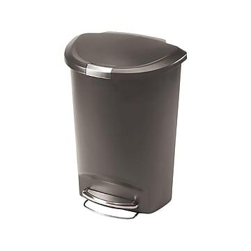 simplehuman Indoor Step Trash Can, Gray Plastic, 13 Gal. (CW1357)