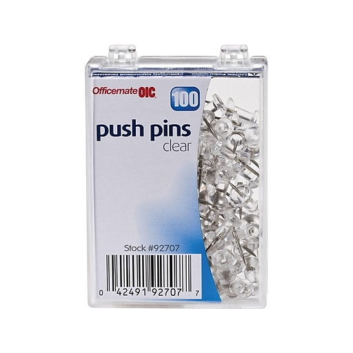 13c273e77d73 OIC® Push Pins, 1/4