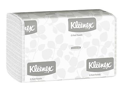 Kleenex C-Fold Paper Towels, 1-Ply, 150 Sheets/Pack, 16 Packs/Carton (01500)