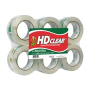 "Duck HD Clear, Acrylic Packing Tape, 1.88"" x 109.3 yds., Clear, 6/Pack (299016)"