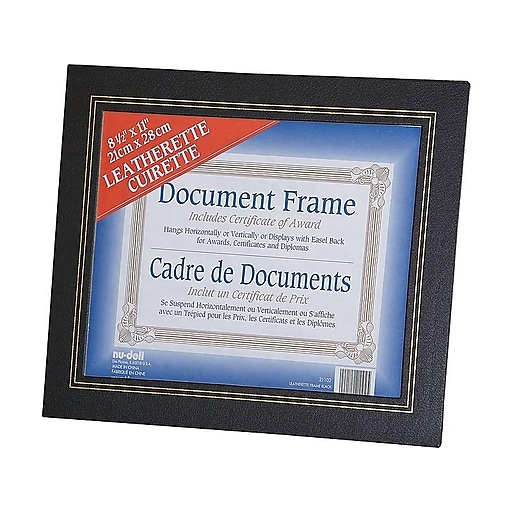 Nu Dell Leatherette Frame Black 8 12 X 11 Staples
