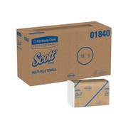 Scott Essential Multifold Paper Towels, 1-Ply, 250 Sheets/Pack, 16 Packs/Carton (01840)
