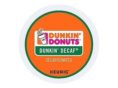Dunkin' Donuts Dunkin' Decaf Coffee, Keurig® K-Cup® Pods, Medium Roast, 24/Box (400846)