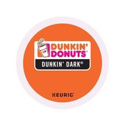 Dunkin' Donuts Dark Roast Coffee, Keurig® K-Cup® Pods, Dark Roast, 24/Box (400849)