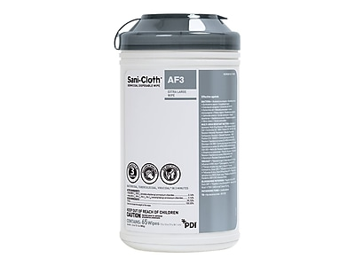 PDI Sani-Cloth AF3 Wipes, 65/Pack, 6/Carton (P63884)