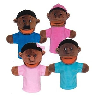 Get Ready African-American family puppet set- 12