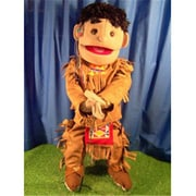 Sunny Toys 28 In. American Indian Boy In Brown Costume, Full Body Puppet (SNTY247)