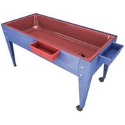 Manta Ray Red Liner Sand And Water Activity Center with Lid And 2 Casters Blue (MNTR016)