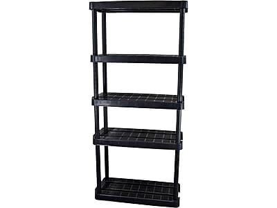 "Gracious Living 5-Shelf Plastic/Poly Unit, 32""W, Black (91066MAXIT1C30)"