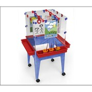 Manta Ray Youth 4 Station Space Saver Easel with 9 in. deep clear tub (MNTR025)