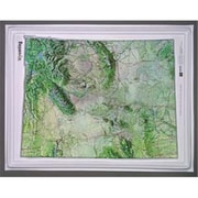 Hubbard Scientific Raised Relief Map Wyoming NCR Series (AMED1999)