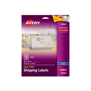 """Avery Easy Peel Inkjet Shipping Labels, 3 1/3"""" x 4"""", Clear, 6/Sheet, 10 Sheets/Pack (18664)"""