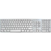7c44ba28042 iHome Full Size Wired Keyboard, Silver (IMAC-K121S)
