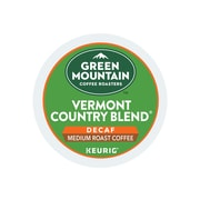Green Mountain Coffee Roasters Vermont Country Blend Decaf Coffee, Keurig® K-Cup® Pods, Medium Roast, 24/Box (7602)