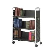 Safco Scoot 3-Shelf Metal Book Cart, Black (5336BL)