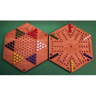 THE PUZZlE-MAN TOYS Wooden Marble Game Board - 18 in. Hexagon (CRWP428)