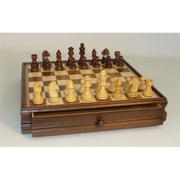 WW Chess Wood Inlaid Chest and Men (WWI976)