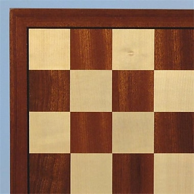 WW Chess 15 in. Sapele and Maple Wooden Veneer Chess Board (WWI404)