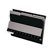 Pendaflex Interior File Folders, 1/3-Cut Tab, Letter Size, Black, 100/Box (PFX 4210 1/3 BLA)