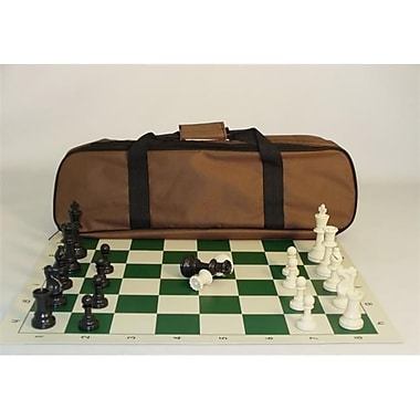 CNChess Tournament Set - Brown Canvas Tote (WWI096)