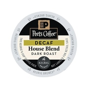 Peet's Coffee House Blend Decaf Coffee, Keurig® K-Cup® Pods, Dark Roast, 22/Box (GMT6544)