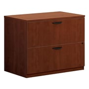 "HON BL Series 2-Drawer Lateral File Cabinet, Assembled, Letter/Legal, Cherry, 35.5""W (HBL2171A1A1)"