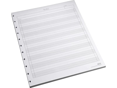 """Staples To-Do Arc Notebook System Refill Paper, 8.5"""" x 11"""", 50 Sheets, Cornell Ruled,White (19995)"""