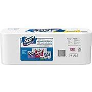 Scott 1-Ply Standard Toilet Paper, White, 1000 Sheets/Roll, 20 Rolls/Carton (20032)