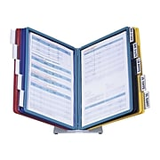 DURABLE Desktop Reference System, 10 Double-Sided Panels, Letter-Size, Assorted Colors, VARIO Design (536000)