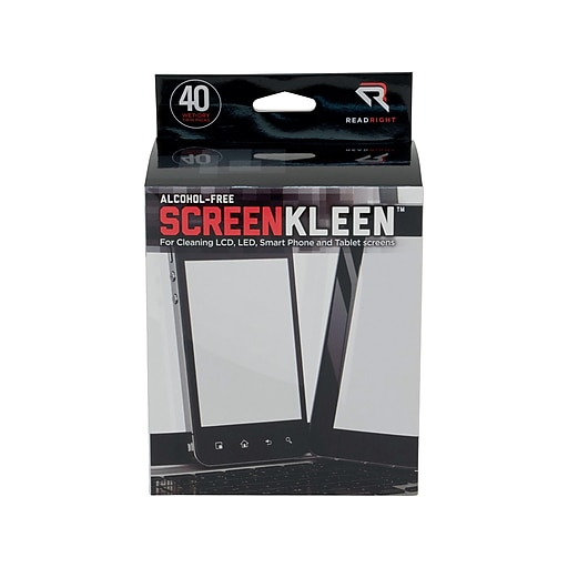 Read Right ScreenKleen Wipes, 40/Box (RRTRR1391)