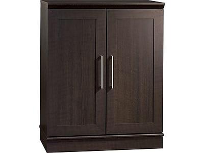 sauder homeplus base cabinet dakota oak staples rh staples com white particle board storage cabinets