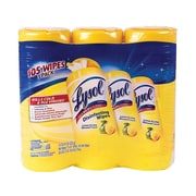 Lysol Disinfecting Wipes, Lemon and Lime Blossom, 35/Canister, 3 Canisters/Pack (1920082159)