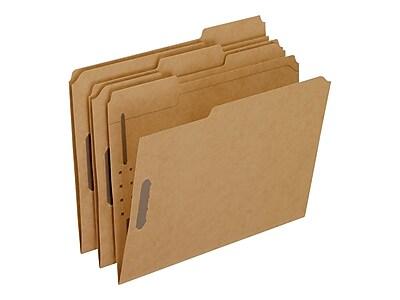 Pendaflex Card Stock Classification Folders, 1/3-Cut Tab, Letter Size, Kraft, 50/Box (PFX FK212)