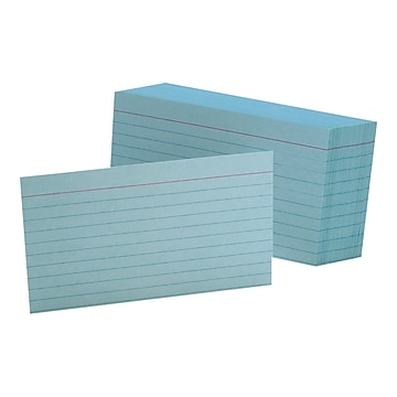 """Oxford Ruled 3"""" x 5"""" Index Cards, Blue, 100/Pack (OXF 7321 BLU)"""