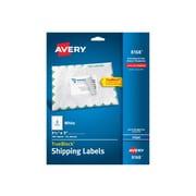 "Avery TrueBlock Inkjet Shipping Labels, 3 1/2"" x 5"", White, 4/Sheet, 25 Sheets/Pack (8168)"