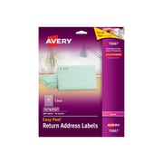 """Avery Easy Peel Laser Address Labels, 1/2"""" x 1 3/4"""", Clear, 80/Sheet, 10 Sheets/Pack (15667)"""