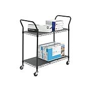 Safco 2-Shelf Metal Utility Cart, Black (5337BL)