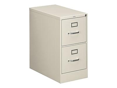 "HON 310 Series 2-Drawer Vertical File Cabinet, Locking, Letter, Putty/Beige, 26.5""D (H312.P.L) NEXT2019 NEXT2Day"