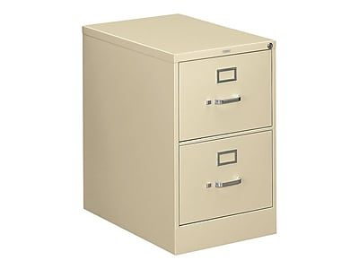 "HON 310 Series 2-Drawer Vertical File Cabinet, Locking, Legal, Putty/Beige, 26.5""D (H312C.P.L) NEXT2019 NEXT2Day"